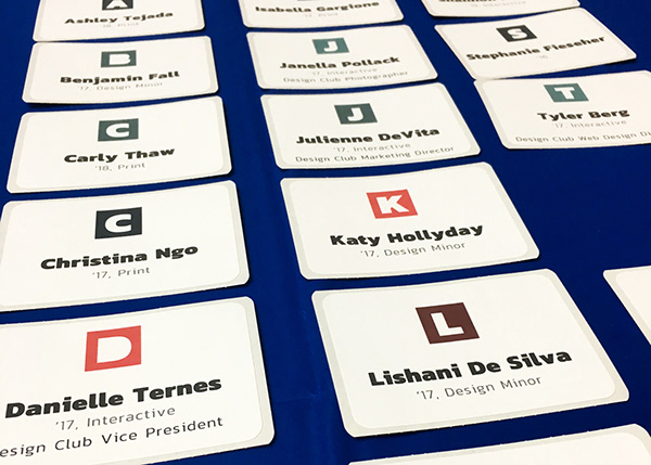 Name tags for students